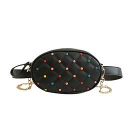 Outdoor Waist Bag Pu Leather Fabala Portable Waist Packs Fanny Pack Casual Money Wallet Pouch Rivet Travel Bum Bag Festival Fine Jewelry