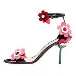 Heart stiletto pumps online shopping - Black Silver Heart Flower Ankle Strap Stiletto heel Sandals Wedding Bride Prom Party Pumps