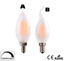 Candle Lit Chandelier Australia - x30 Dimmable C35 C35T 4W 6W Retro LED Filament Bulb Frosted Candle Bulbs,E12 E14 Base, 110v 220v Warm White,Chandelier Decorative Lighting