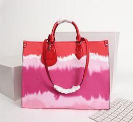 Orijinal Yüksek Kaliteli Moda Tasarımcısı Lüks Çantalar Cüzdanlar onthego Çanta Bayan Marka Klasik Stil Gerçek Deri Omuz Çantaları