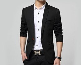 blazers NZ - Mens Business Designer Suits Lapel Neck Long Sleeve Blazer Solid Color Single Button Plus Size Homme Clothing Fashion Style Casual Apparel