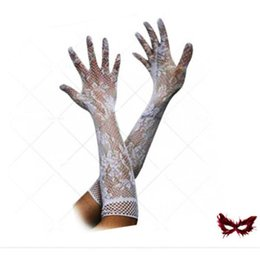 leather gloves sale NZ - 2020 Sexy lace gloves hot sale wholesale women's summer sunscreen thin long UV blocking gloves black Lace Gloves 3 colors