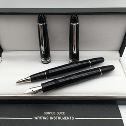$enCountryForm.capitalKeyWord Australia - Luxury Christmas Gift - High quality Meisterstcek 149 Black Resin Rollerball pen Fountain pen MB Branding Writing supplies with Original Box