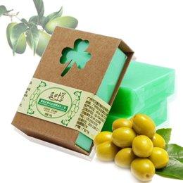 Natural Oils For Acne Scars NZ - 100g Natural Handmade Olive Essential Oil Soap Savon De Marseille Pure Vegetal Olive Soap Artisanat De Provence