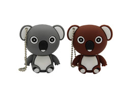 usb flash animals Australia - High quality wholesales cartoon animal koala gary brown model usb flash drive usb 2.0 4GB 8GB 16GB 32GB 64GB creative pendrive