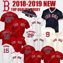 8917d4d6e01 Boston Red 50 Mookie Betts Sox 19 Jackie Bradley Jr. Baseball Jersey 28 JD  Martinez 34 Ortiz 15 Dustin Pedroia 16 Benintendi 9 Williams