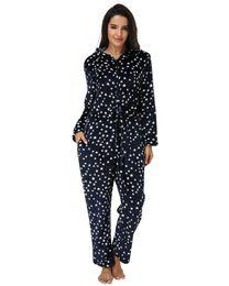 long sleeve loose jumpsuit 2019 - Casual Loose Star Print Rompers Jumpsuit Women 2019 Autumn Winter Hooded Long Sleeve Zipper Bodysuits Sleepwear Long Paj