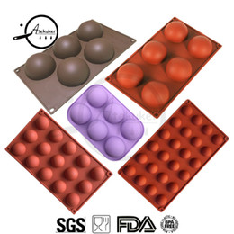 mousse mould 2020 - Atekuker 5pcs set Half Ball Shape Silicone Mold For Baking Bakeware Silicone Form Mold For Chocolate Candy Mousse Cake M