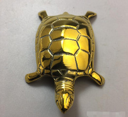 $enCountryForm.capitalKeyWord Australia - Pure copper antique bronze antique crafts brass gold plated small ornaments gold turtle metal ornaments home furnishings