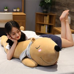 $enCountryForm.capitalKeyWord NZ - Big Polar Bear Plush Toy Soft Cartoon Animal Cute Teddy Bear Stuffed Doll Long Pillow Cushion Kids Christmas Gift High Quality