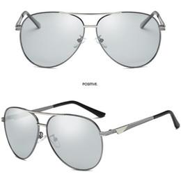 1d1f9c5db8547b La nouvelle photo photosensible décoloration polarisée lunettes de soleil  hommes conducteurs double usage protection UV grenouille miroir jour et nuit