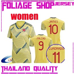ba28d4747 Camiseta 2019 Colombia women soccer jersey home james falcao Copa America  19 20 Colombia CUADRADO Female football shirts thailand quality