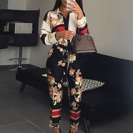 $enCountryForm.capitalKeyWord Australia - Women Fashion Elegant Casual Workwear Party Romper Female Floral Print Turn-down Neck Long Sleeve Jumpsuit MX190806