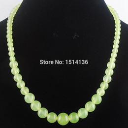 $enCountryForm.capitalKeyWord NZ - WOJIAER New Fashion Jewelry Jades Gem Stone Round 6~14mm Beads Women Necklace 17.5 Inches LF3016