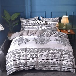 White Single Beds Australia - Elephant printing bedding sets queen size Bohemia duvet cover set with Pillowcase AU size single Bedlinen Home textile