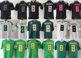 2019 NCAA 8 Marcus Mariota Jersey College Oregon Ducks Football Jerseys  Green Black Yellow White jersey S-3XL 5395c66c1