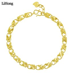 Wholesale Personality Fashion k Gold Color Bracelet Unisex Chain Bracelet Hip Hop Party Fine Jewelry Best Gift