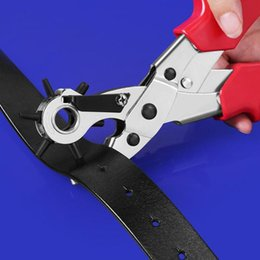 $enCountryForm.capitalKeyWord Australia - Leather Belt Hole Punch Plier Eyelet Puncher Revolve Sewing Machine Bag Setter Tool for Watchband Strap
