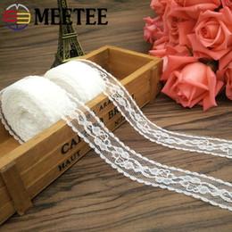 $enCountryForm.capitalKeyWord Australia - Meetee 25mm No-elastic Lace Webbing DIY Jewelry Bow Packaging Ribbon Decoration Clothing Home Textile Accessory BD482