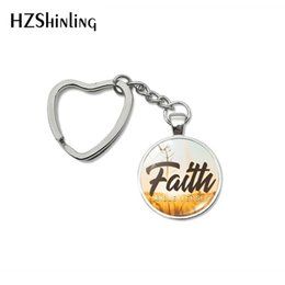 $enCountryForm.capitalKeyWord Australia - 2019 Fashion Bible Verse Faith Believe Love Bless Hope Inspiration Quotes Heart Keychains Hand Craft Gift Keyring for Christian