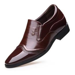 96dc79013f9414 Men Wedding Groomsman Extravagant Elegant Dress Shoes Men Business Elevator  Shoes 7 CM Invisible Height Increase