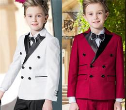 37631c75fe71a Personnalisé Garçons Tuxedos Occasion Petits Hommes Costumes Drop Enfants  Enfants De Noce Smokings Enfants Tenue de soirée Deux Pièce Jacket pantalon
