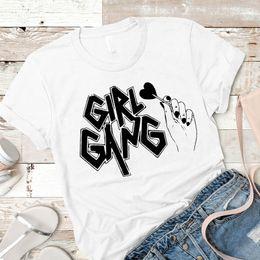$enCountryForm.capitalKeyWord Australia - Women Shirt Womens girl gang love Fashion Laides Summer Mujer Camisa Top Tshirt Graphic Clothing Tees Female Printed T-shirt