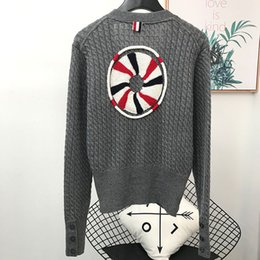 $enCountryForm.capitalKeyWord Australia - Women's Sweater New V-collared Cardigan Back Embroidery Three-dimensional 3D Life Jacket Fashion Slim TB Knit S-L