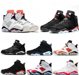 Discount men basketball shoes toro red - New Bred Men 6 6s Basketball Shoes Tinker UNC Black Cat White Infrared Red Carmine Toro Mens Designer Trainer Sport Snea