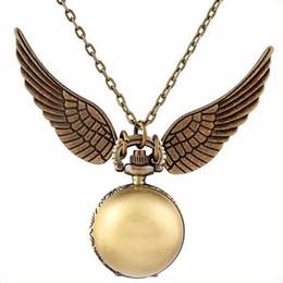 $enCountryForm.capitalKeyWord Australia - Retro Bronze Harry Potter Ball Wings Antique Vintage Quartz Pocket Watch Analog Pendant Necklace Mens Womens Gifts Fob Watches