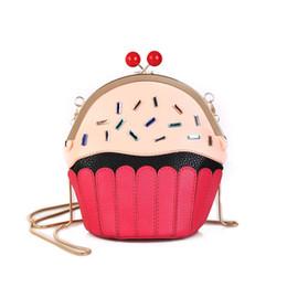 5cf7844903f70 good quality 2019 New Small Cupcake Cake Shape Women s Shoulder Bags Female  Cartoon Cute Pu Leather Messenger Bag Clutch Handbag
