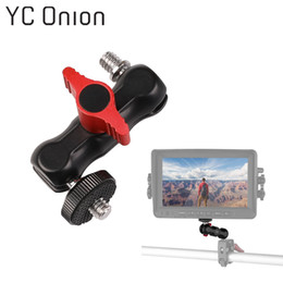 Discount head monitors - Multi-function Double Ball Head Magic Arm Dual Ballhead Super Clamp Mount Adapter for Phone Monitor Light Photo Studio A
