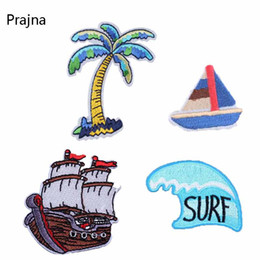 $enCountryForm.capitalKeyWord Australia - Prajna Ship Surf Patch Iron On Patches Sailing Boat Embroidered Patches For Clothing Cheap Stickers Shoes Accessories Applique D
