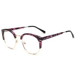 b3f09ef58bf Fashion Cat Eye Eyeglasses Frame Goggles Transparent Glasses Half Frames  Vintage Optical Spectacle Myopic Eye Glasses