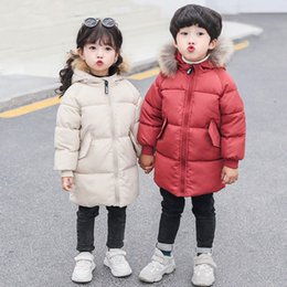 $enCountryForm.capitalKeyWord Australia - 2019 Winter Jacket For Girls 2-9 years Fashion Long Parka Children Casual Solid Hooded Outerwear Kids Red Faux Fur Cap Coat Boys