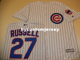 $enCountryForm.capitalKeyWord Australia - Cheap custom Chicago #27 ADDISON RUSSELL Cool Base Sewn Baseball Jersey W Patch NEW Mens stitched jerseys Big And Tall SIZE XS-6XL For sale