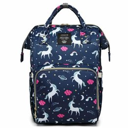 diaper camp 2019 - Unicorn Mummy Maternity Diaper Backpack Bags Baby Nappy Diaper Bag Travel Backpack Large Capacity Outdoor Bags cheap dia