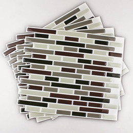 kitchen wall backsplash NZ - 4Pcs Home Decor 3D Tile Pattern Kitchen Backsplash Stickers Mural Wall Decals