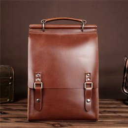 genuine leather rucksack Australia - MAHEU Fashion Lady Bagpack Cowhide Genuine Leather Backpack Men Women School Bag Backpack Female Girls Rucksack Shoulder Packs