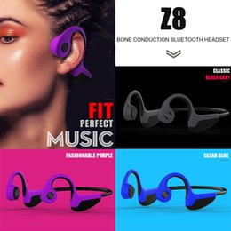 classic earphones Canada - Z8 Wireless Bone Conduction Earphone Classic luxurious Style Bluetooth Headphones Vivid High Sound Quality Multi-function Application