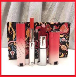 $enCountryForm.capitalKeyWord Australia - New Famous Given Lip Makeup 2pcs set Liquid Lipstick 2 color Set Natural matte Cherry Lipstick lip blam lip 2 in 1 Kit