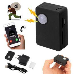 Alarm Pir Camera Australia - X9009 Wireless Infrared Camera Mini Gsm Pir Alarm GSM Tracker Autodial PIR MMS Listening Device Monitor Alarm System