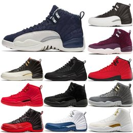 400f45d051f Winterize 12 Gym Red 12s College Navy men basketball shoes International  Flight bulls Flu Game master black white taxi Sport trainer sneaker