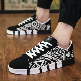 $enCountryForm.capitalKeyWord Australia - Man Summer fashion Casual shoes Ventilation canvas Frenulum printing Single shoes