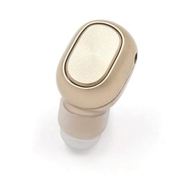 invisible wireless earbud 2018 - uxcell Mini Invisible Wireless Bluetooth Headset Earbud with Mic 5 Hours Playtime for Smart Phone car cheap invisible wi