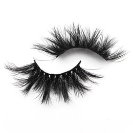 Length False Eyelashes Australia - T06 25mm False Eyelashes Thick Strip 25mm 3D Mink Lashes Extra Length Mink Eyelashes Makeup Dramatic Long Mink Lashes