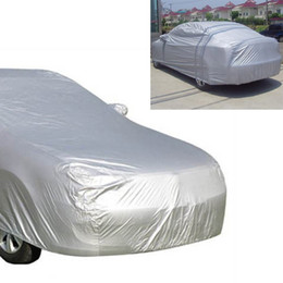 car protections Canada - Full Car Cover Indoor Outdoor Sunscreen Heat Sun Protection Dustproof Anti-UV Scratch-Resistant for Car Protectors Suit L