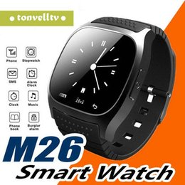 $enCountryForm.capitalKeyWord Australia - Smartwatch M26 Bluetooth Wireless Wearable Device Smart Watch for Andriod mobile phone Sport Watch with Retail Box G-BS
