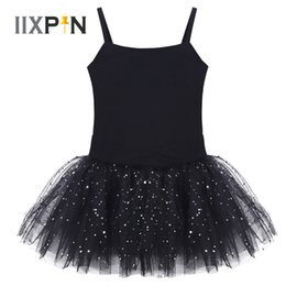 Dance Tutu Wholesale For Kids Australia - IIXPIN Kids Girls Camisole Tutu Dress Sleeveless Bow Glitter Tulle Ballet Leotard Dress Dancer Wear gymnastics for girls