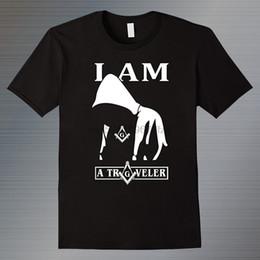 Toptan satış Masonik Mağaza Mason erkek T Shirt Yaz Moda Tasarım Yuvarlak Boyun Giyim Kısa Kollu Pamuklu Tops